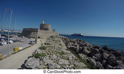 Fort in Rhodes island, Greece,