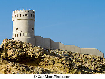 Fort  in Sur in the Sultanate of Oman