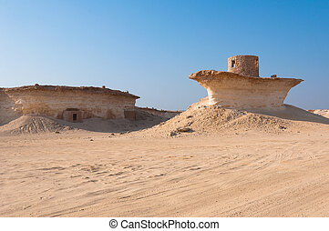 Fort in the desert of Zekreet, Qatar, Middle East