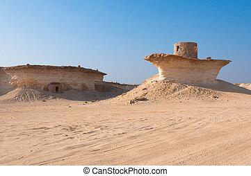 Fort in the desert of Zekreet, Qatar, Middle East