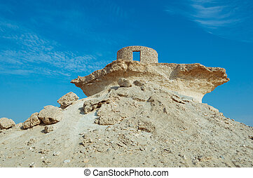 Fort in the Zekreet desert of Qatar, Middle East