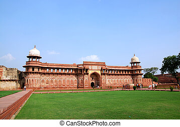 fort, inde, architecture, agra