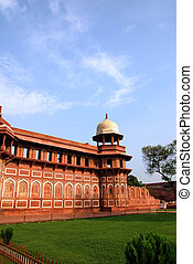 fort, india, architectuur, agra