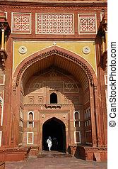 fort, india, mahal, jahangiri, agra