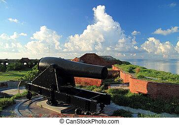 Fort Jefferson Artillery - A 15-Inch Rodman Civil War era...