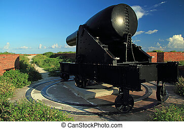 Fort Jefferson Artillery - A 15-Inch Rodman Civil War era...