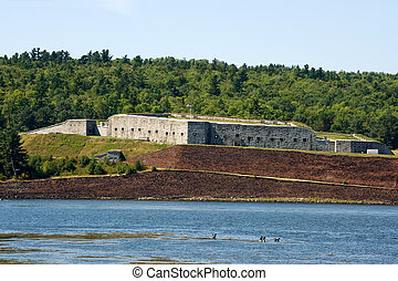 Historic Fort Knox on Penobscot river, Maine