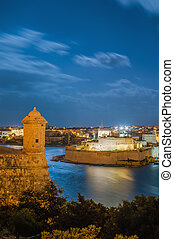 Fort Lascaris Bastion in Valletta, Malta - Fort Lascaris...