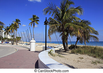 Fort Lauderdale Beach Park Looking North