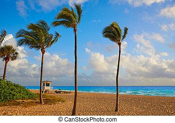 Fort Lauderdale beach sunrise Florida US