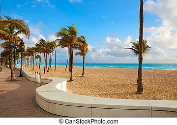 Fort Lauderdale beach sunrise Florida US - Fort Lauderdale...