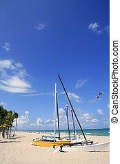 Fort Lauderdale catamaran beach Florida