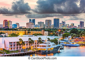 Fort Lauderdale, Florida Skyline