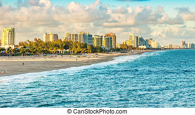Fort Lauderdale, Florida - Scenic view of Ft. Lauderdale...