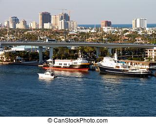Fort Lauderdale harbor.