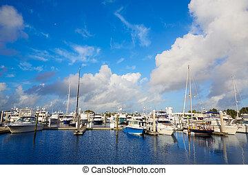 Fort Lauderdale marina boats Florida US