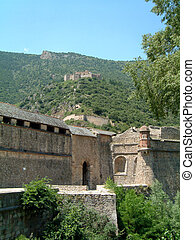 Fort Liberia high above Villefrance-de-Conflent, The old...