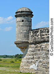 Fort Matanzas Turret - Fort Matanzas national monument...