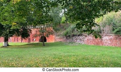 Fort number 5 in Kaliningrad. German ancient fort. High ...
