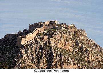 fort of nafplio peloponnese landmarks of greece