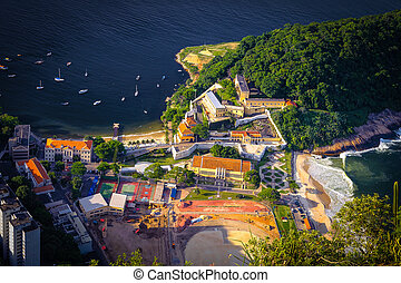 Fort of St. John - Aerial view of a fort at the waterfront,...