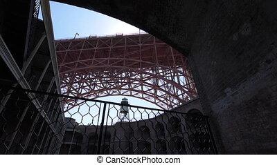 Fort Point Golden Gate Bridge dolly left