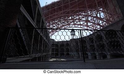 Fort Point Golden Gate Bridge dolly right