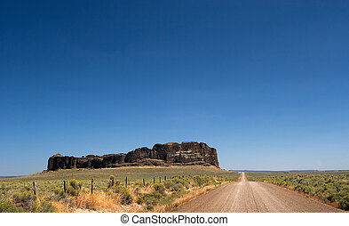 Fort Rock State Park 4 - Photo of the blown out crater of...
