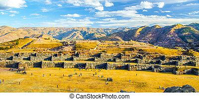 Fort Sacsayhuaman in Cusco, Peru.