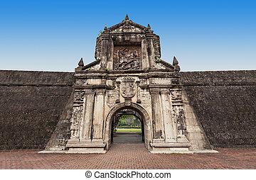 Fort Santiago in Intramuros, Manila city, Philippines