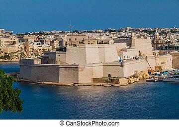 Fort St. Angelo in Birgu town, Mal