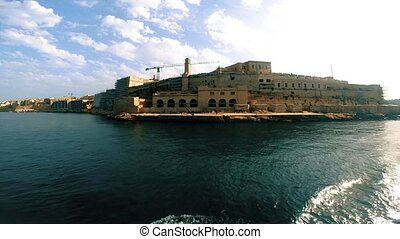 Fort St. Angelo view from bay, Birgu, Malta