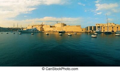 Fort St. Angelo view from gulf, Birgu, Malta