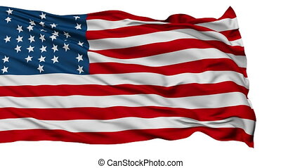 Fort Sumter USA Isolated Waving Flag