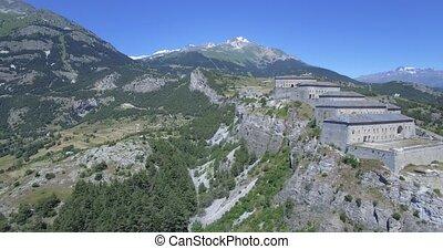 Fort Victor-Emmanuel, France - 4K Aerial, Fyling Above Fort...