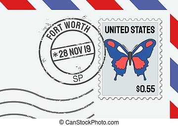 Fort Worth TX - Fort Worth postage stamp - American post ...
