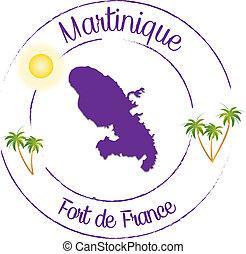 fortaleza, de, -, martinica, francia