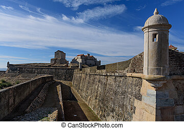 Forte da graca, portugal - views of the fortification and ...