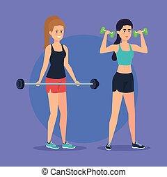 forte, musculação, mulheres