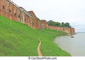 forte, vicino, il, fiume, allahabad, india