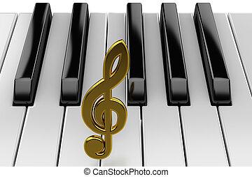 fortepianowa klawiatura