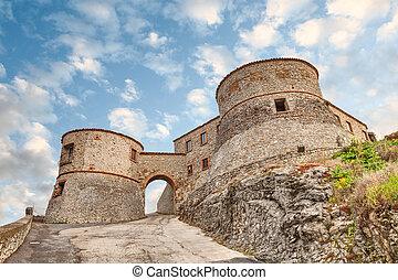 forteresse, rimini, italie, torriana