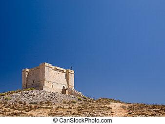 St marija tower on comino island, Malta