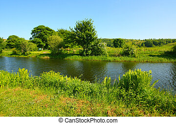 Forth and Clyde Canal in springtime