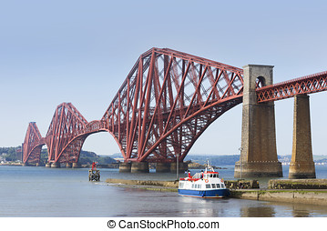 Forth Bridge on a sunny day.
