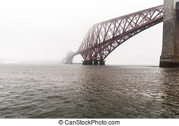 Forth bridges in Edinburgh, Scotland, UK