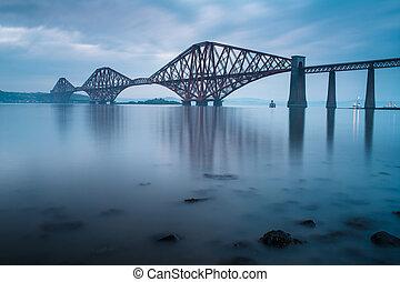 forth, ponts, dans, edimbourg, ecosse