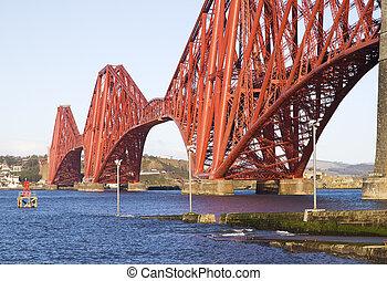 Forth Rail Bridge detail, in Edinburgh, Scotland