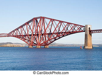 Forth rail bridge in Edinburgh