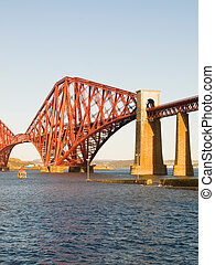 Forth rail bridge in vertical composition
